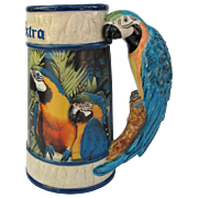 Corona Beer Stein Mug with Macaw Parrots