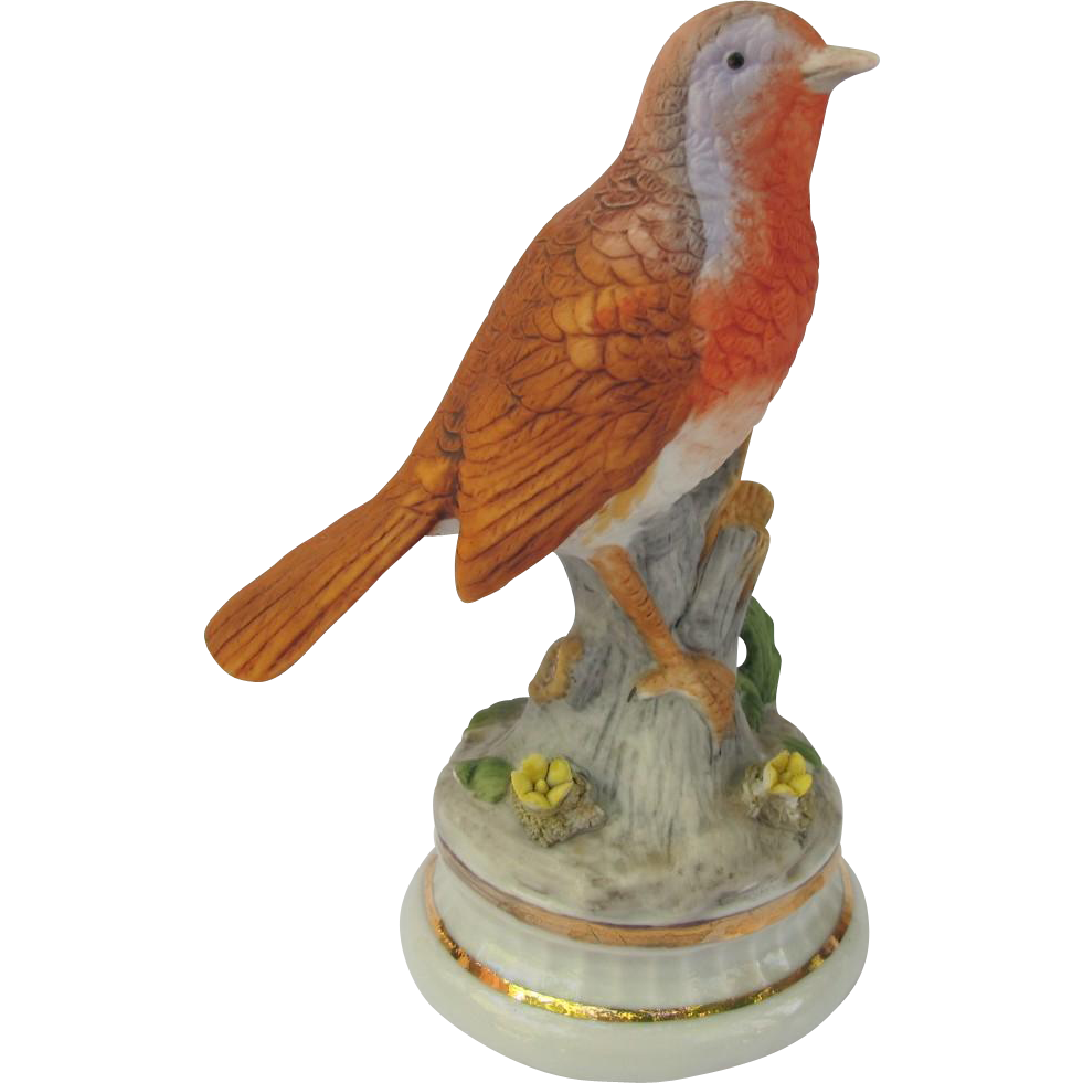 Bisque European Robin Figurine