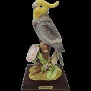 Vintage Jonathon Byron Cockatiel Figurine