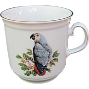 Vintage African Grey Mug Bavaria Germany