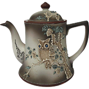 Vintage Japanese Moriage Owl Teapot