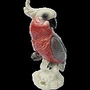 Vintage Beswick England Rosebreasted Cockatoo Figurine