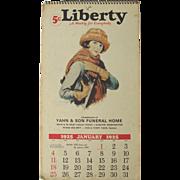 Vintage Liberty Advertising Calendar