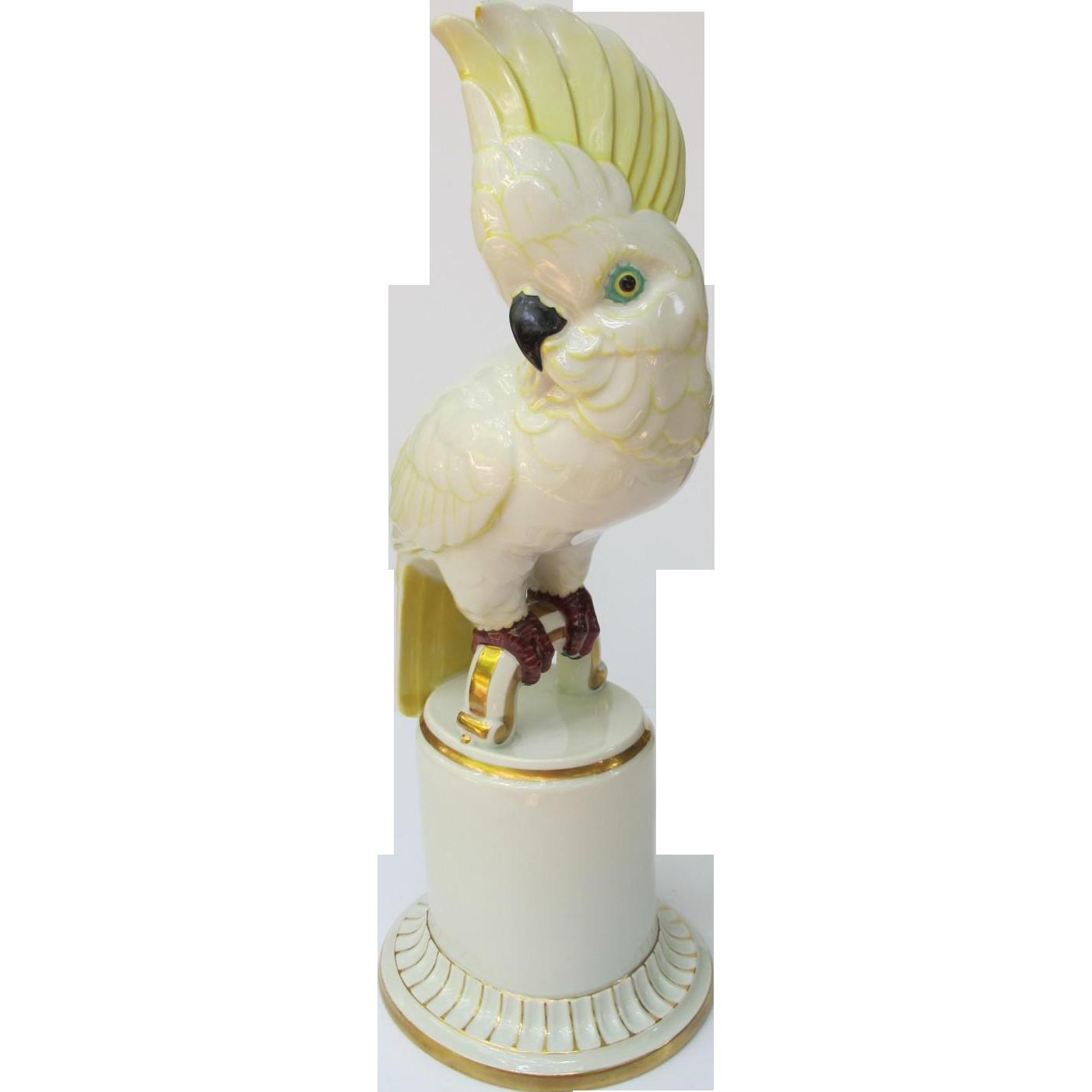 Vintage Art Deco Hutschenreuther Cockatoo Figurine Large