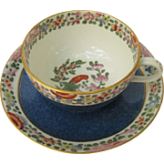 Vintage Royal Worcester Old Parrot Coffee Tea Cup Saucer