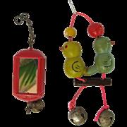 Vintage Parakeet Budgie Bird Toys