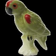 Miniature Green Parrot Figurine