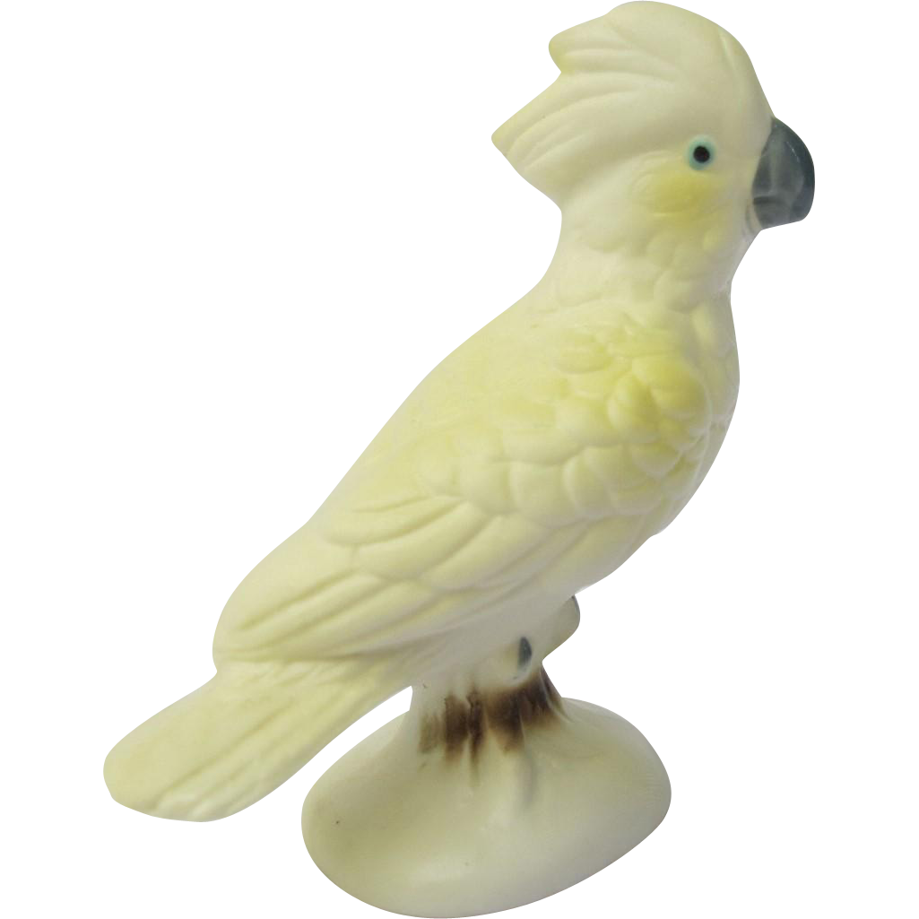 Vintage Miniature Cockatoo Figurine