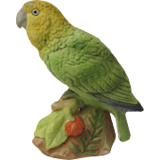 Vintage Miniature Amazon Parrot Figurine