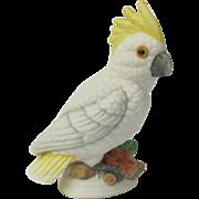 Vintage Sulphur Crested Cockatoo Miniature Figurine