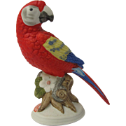 Miniature Scarlet Macaw Parrot Figurine