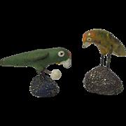 Vintage Miniature Parrot Figures