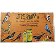 Vintage Wampole's Ink Blotter with Birds