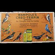 Vintage Wampole's Ink Blotter with Birds