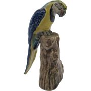 Vintage Miniature Blue and Gold Macaw Figurine