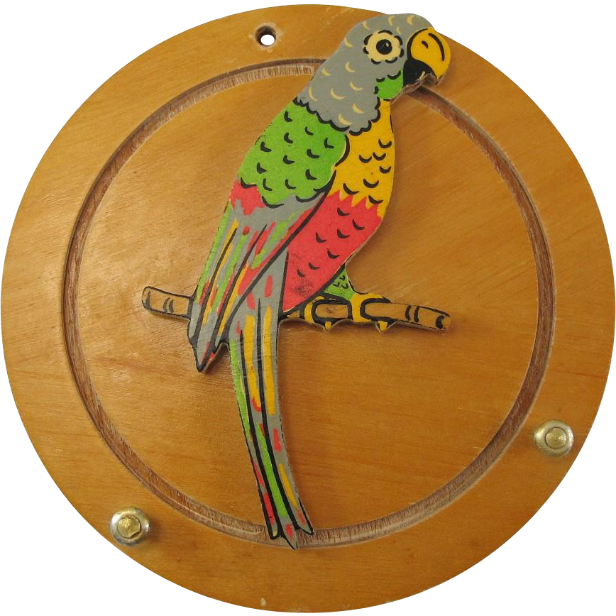Vintage Parrot Key Holder Rack