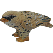 Vintage Carved Wood Miniature Hawk