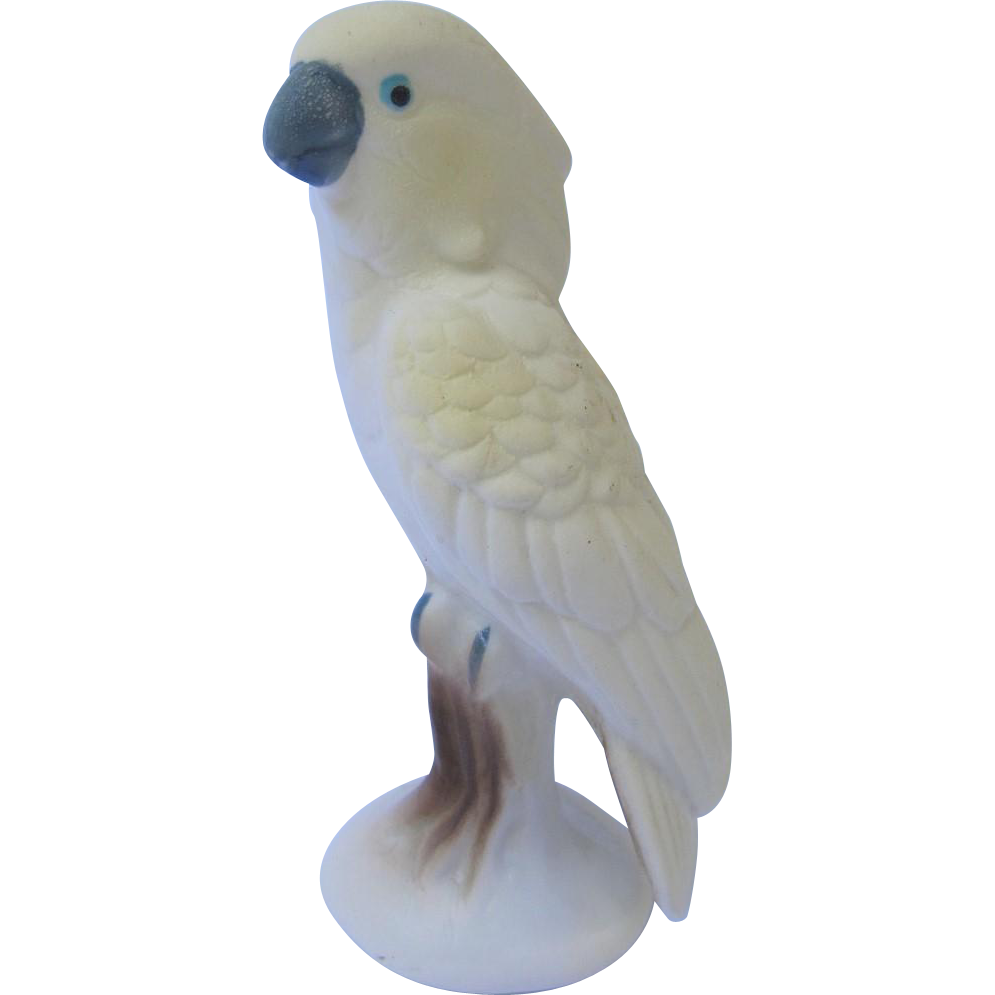 Miniature Bisque Cockatoo Figurine