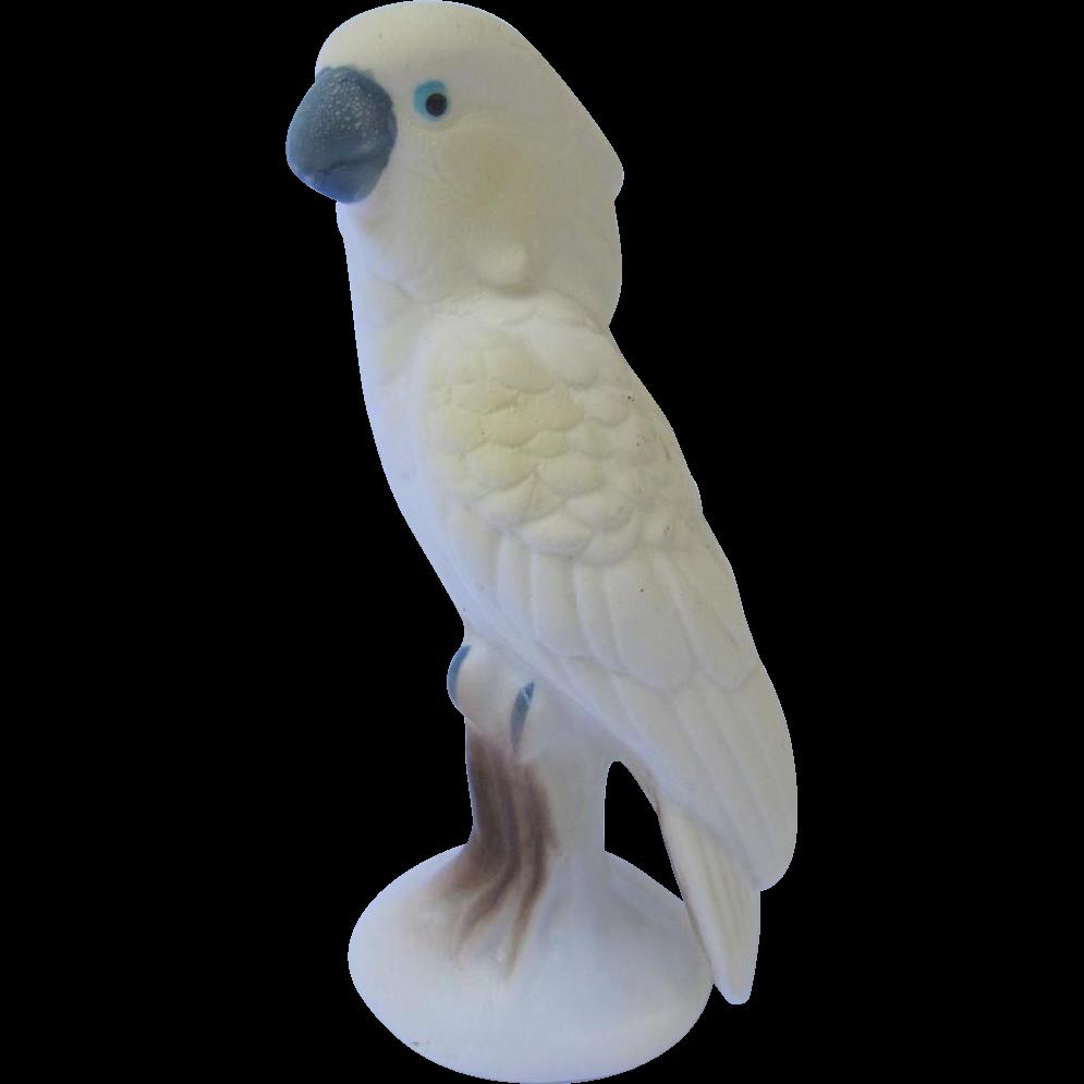 Miniature Bisque Cockatoo Figurine