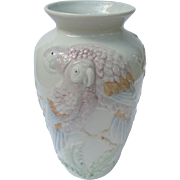 Fitz and Floyd Macaw Parrot Vase