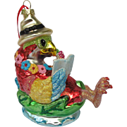 Tropical Parrot Christmas Ornament