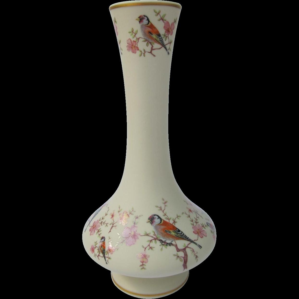 Vintage European Goldfinch Vase from Portugal
