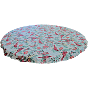 Christmas Cardinal Round Tablecloth