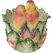 Vintage Fitz and Floyd Lovebird Planter