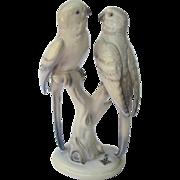 Vintage Cortendorf Germany Parakeet Budgies Figurine