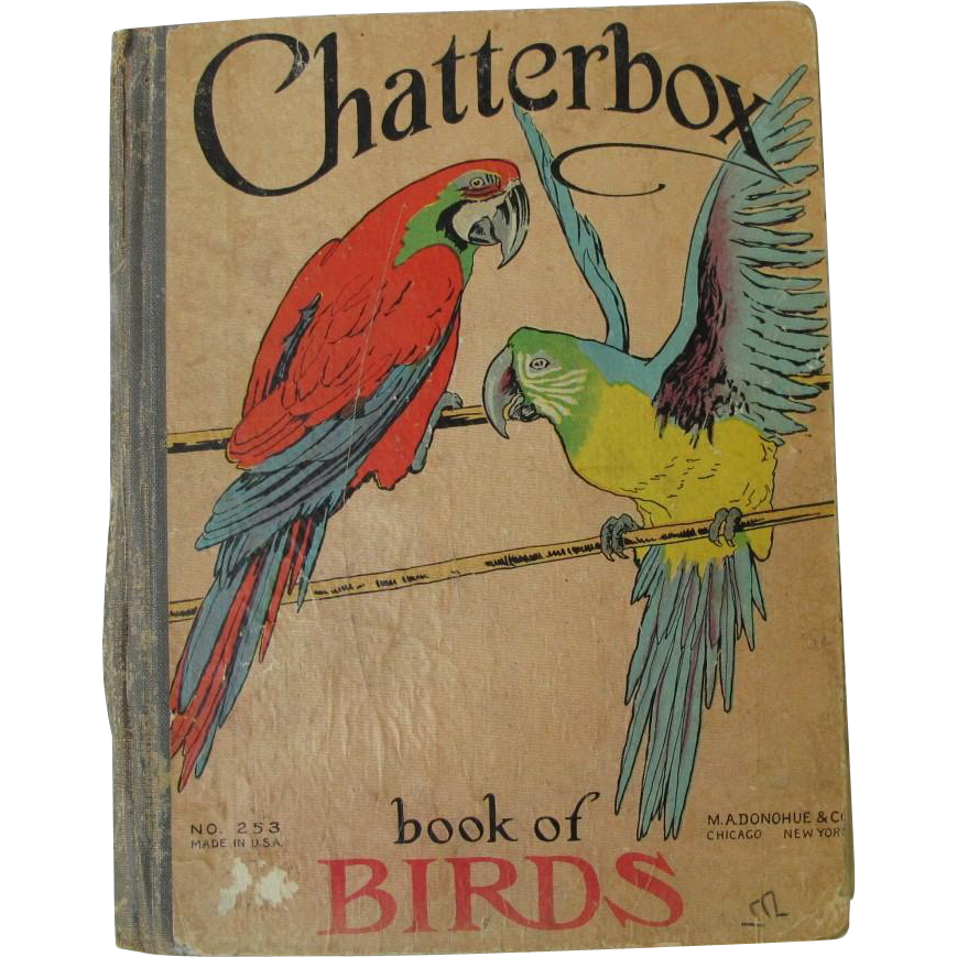 Antique Chatterbox Book of Birds