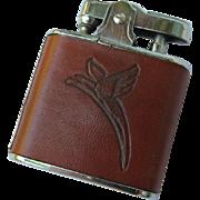 Vintage Western Leather Lighter with Parrot Eagle