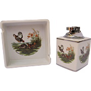 Vintage Colibri Smoking Set with Prairie Chickens Game Birds