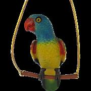 Vintage Plastic Parrot on Perch