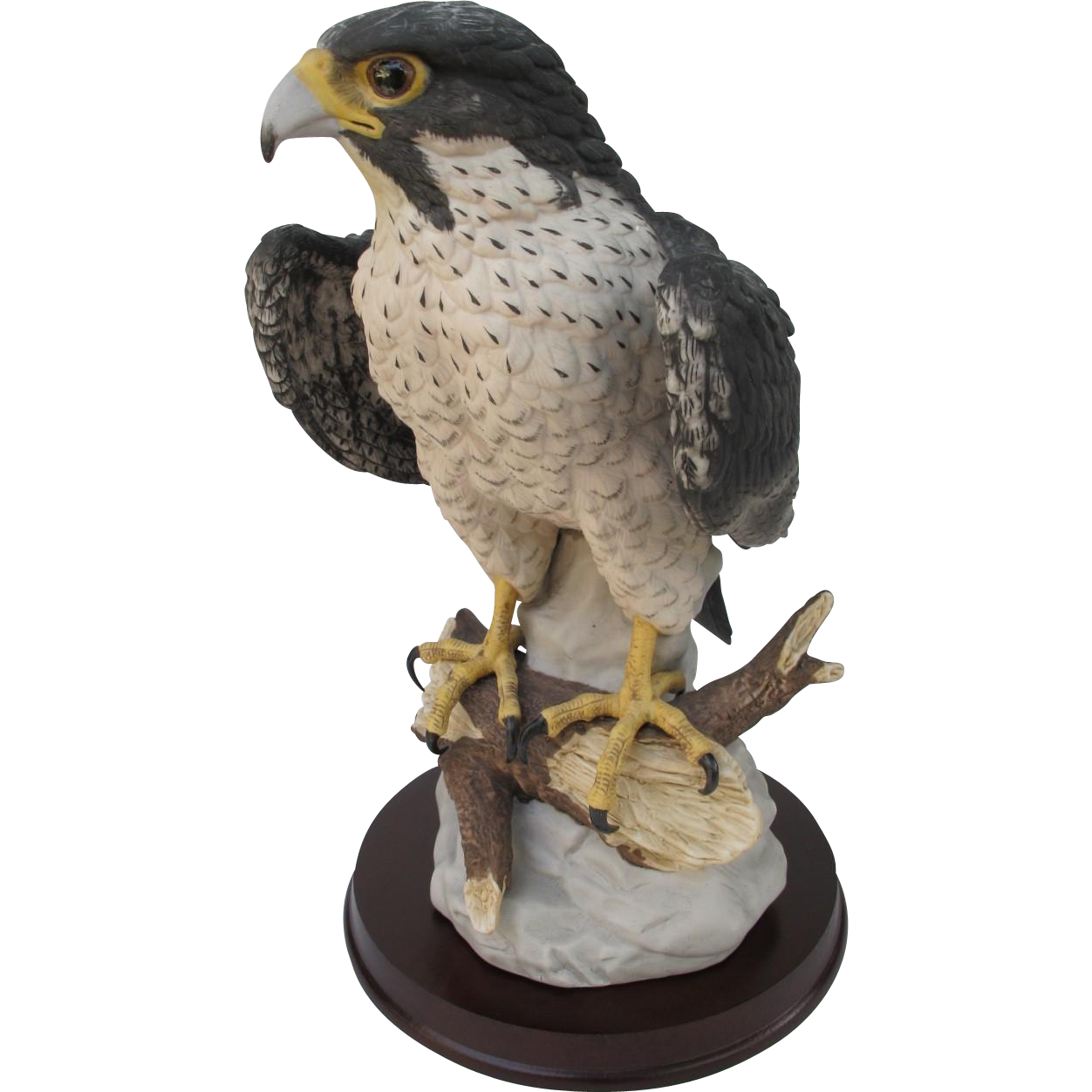 Vintage Stefani Peregrine Falcon Figurine Zales Large