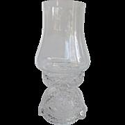 Rare Hofbauer Byrdes Crystal Hurricane Lamp