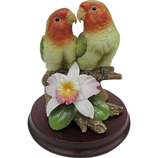 Limited Edition Andrea Lovebird Figurine Rare