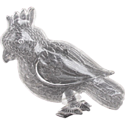Vintage Glass Cockatoo Tray Dish