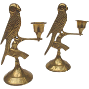 Brass Bird Candle Holders Candelabra