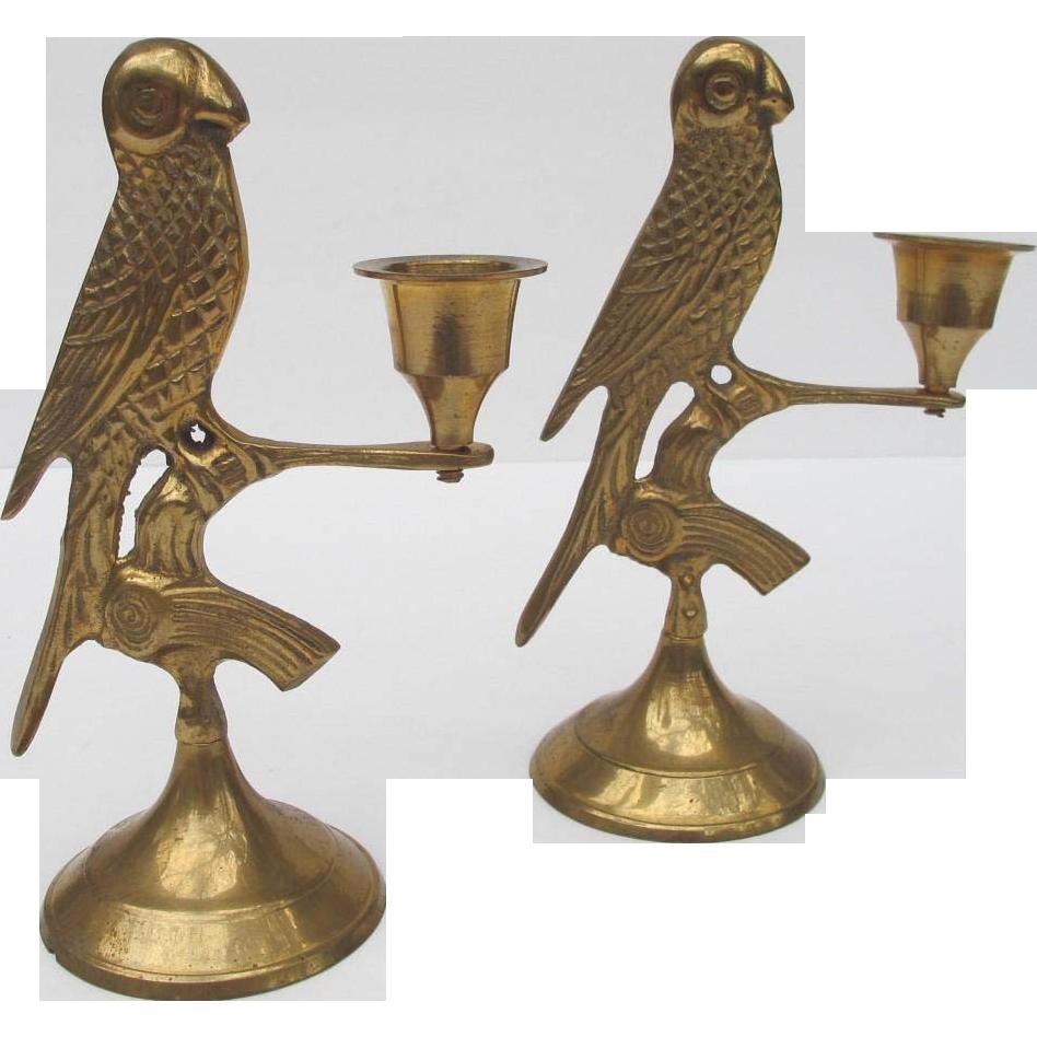 Brass Bird Candle Holders Candelabra