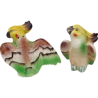 Old Japan Cockatoo Salt and Pepper Shakers