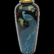 Art Nouveau Austria Peacock Vase