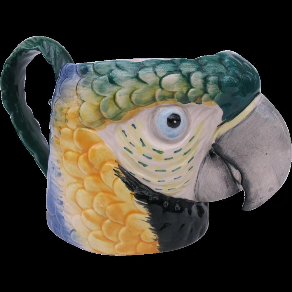 Vintage Fitz and Floyd Macaw Mug