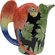 Vintage Fitz and Floyd Macaw Parrot Pitcher
