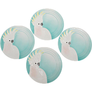 Vintage Vandor Cockatoo Parrot Plate Set
