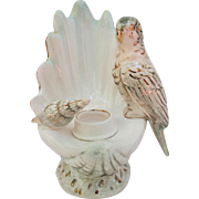 Vintage Parakeet Budgie Shell Candle Holder