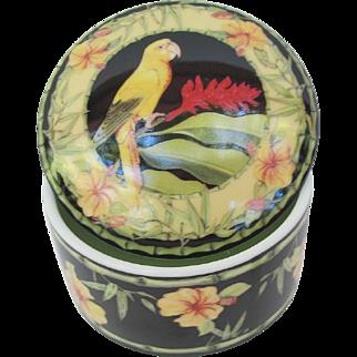 Vintage Andrea Golden Conure Parrot Trinket Jar Candle