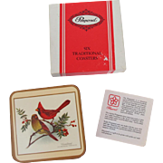 Vintage Pimpernel England Songbird Coasters