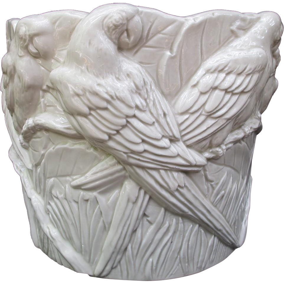 Rare Vintage Fitz and Floyd Macaw Parrot Planter