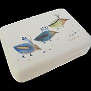 Vintage Sascha Brastoff Chi Chi Bird Trinket Cigarette Box