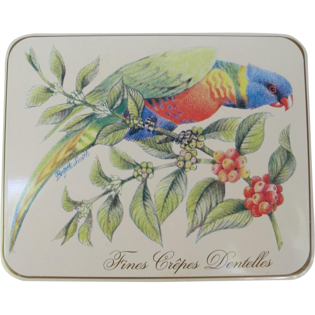 Rainbow Lorikeet Parrot Tin from Germany